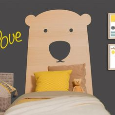 A very cool big bear headboard that will look stunning in your child's bedroom...