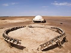 "Abandoned Star Wars Set in the Tunisian Desert - The Story: ""Back in 2010, artist and photographer Rä di Martino ventured into the Tunisian desert to find the abandoned movie sets from Star Wars. The desert location was used in 1976 to film Lars Homestead on Luke Skywalker's home planet of Tatooine."""