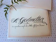 Godmother Card... Vintage Inspired Godparent Card by ifiwerecards, $4.50