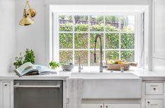 all-white kitchen +