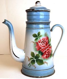 french enamelware antique - Google Search