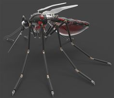 Neo Japan 2202, Armes Futures, Spy Drone, Robot Animal, Arte Robot, Robot Design, Art Sculptures, Space Age, Planer
