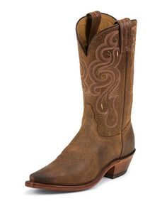 Another great find on #zulily! Tony Lama Brown & Pink Embroidered Leather Cowboy Boot by Tony Lama #zulilyfinds
