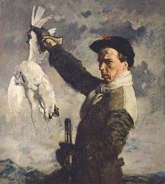 William Newenham Montague Orpen - Self-Portrait. The Dead Ptarmigan