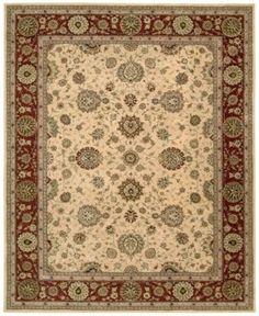 "Nourison Wool & Silk 2000 2204 Ivory 8'6"" x 11'6"" Area Rug"