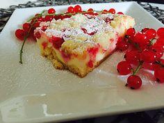 Chefkoch.de Rezept: Rhabarberkuchen mit Quarkcreme und Streuseln