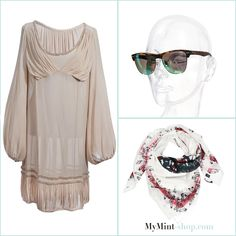 FRIDAY´S NEW ARRIVALS! Dress: #Zucca Sonnenbrille: #RayBan Tuch: #Balmain #Vintage #Fashion #Secondhand #Onlineshop #MyMint