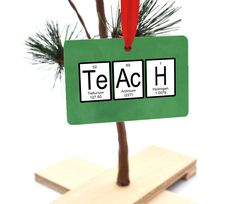 Teach Periodic Table of Elements Christmas Ornament