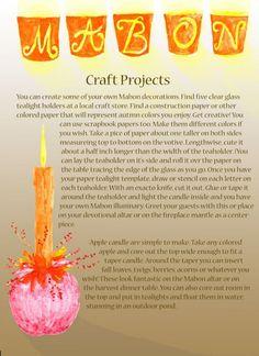 Mabon Crafts Mabon, Samhain, Autumnal Equinox, Glass Tea Light Holders, Candle Holders, Wiccan Crafts, Sabbats, Kitchen Witch, Magick
