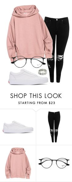 """#No name"" by eemaj ❤ liked on Polyvore featuring Vans, Boohoo, Ray-Ban and Cartier"