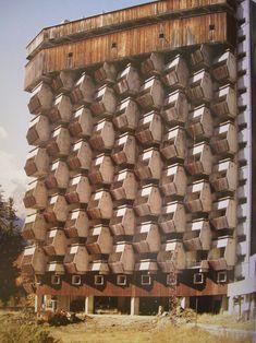 Soviet Buildings | Russia, Dombai, Rehabilitation center, 1985