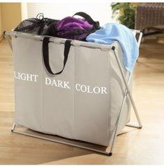 Panier à linge triple Light Dark