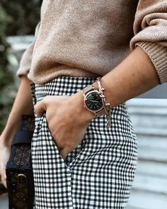 Obsessed with sweaters and plaid pants this fall.