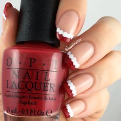 Santa suit french manicure
