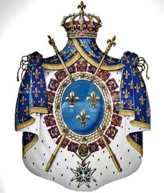 Zimbabwe History, Order Of The Dragon, Bourbon, French Royalty, Cosmic Art, Baroque Architecture, French Empire, Family Crest, Crests