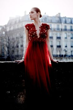 Red in Paris ~ (Patricia Bonaldi Dress)