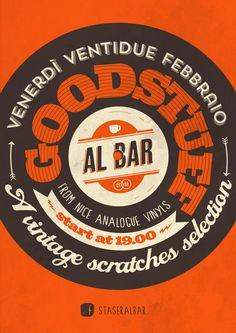 Vintage scratches selection at Al bar (Poster)