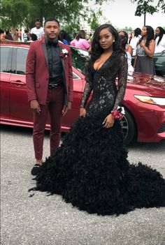 Source by dresses black girls slay with dates Black Girl Prom Dresses, Beautiful Prom Dresses, Girls Dresses, Prom Couples, Teen Couples, Bff, Prom Poses, Prom Outfits, Wedding Outfits