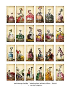 Marie Antoinette era 1700's French Revolution fashion by magicpug