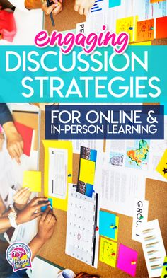 A BIG list of tech tools and discussion strategies that make classroom conversations more engaging for middle and high school students! Use these discussion formats in person, online, or in blended learning situations. #ClassroomDiscussions #MiddleSchool #HighSchool #EngagingELA Student Centered Classroom, High School Classroom, Art Classroom, Classroom Ideas, English Classroom, Google Classroom, Online Classroom, Flipped Classroom, Classroom Design