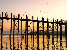 The U-Bein bridge in Mandalay, Myanmar - To do in Fall 2016