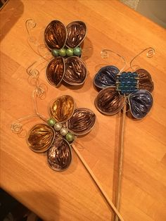 Schmetterlinge aus Nespresso Kapseln Nespresso, Creative, Crafting