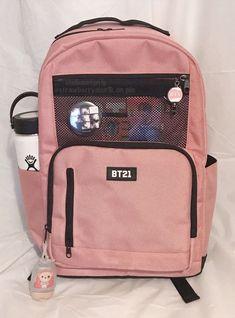Mochila Kpop, Mochila Do Bts, Mochila Adidas, Cute School Bags, Cute School Supplies, Stylish Backpacks, Cute Backpacks, Mochila Jansport, Bts Bag