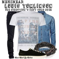 """Inspired by Louis Tomlinson in the 2013 One Direction music video for """"Best Song Ever""""."""