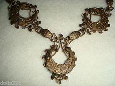 Stunning Crecent Vintage 1930s Lavaliere Necklace