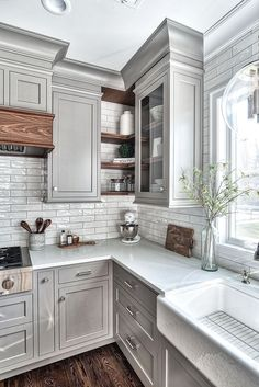 Kitchen cabinets upgrade 97 Unique Farmhouse Style Kitchen Cabinets 61 Bed Buying Magic A variety of Rustic Kitchen Cabinets, Refacing Kitchen Cabinets, Kitchen Cabinet Styles, Farmhouse Style Kitchen, New Kitchen, Kitchen Decor, Kitchen Ideas, Kitchen Rustic, Awesome Kitchen