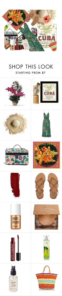 """Escape to Havana"" by chaipie ❤ liked on Polyvore featuring Nearly Natural, Zimmermann, Vera Bradley, Billabong, Benefit, Urban Decay, NYX, Olivine and Sensi Studio"