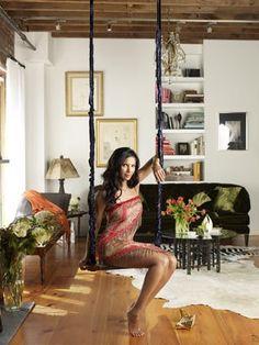 Look! A Sneak Peek Inside Padma Lakshmi's Home — Harper's Bazaar | Apartment Therapy