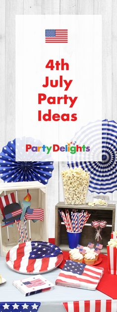 Whichever side of the pond you're on, celebrate Independence Day with our 4th July party ideas! Find 4th July decorations and party food ideas that are perfect for the Fourth of July or an American themed party!