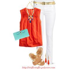 Orange, Mint & Navy