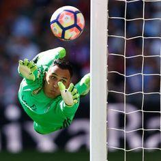 Goalkeeper Keylor Navas Saving A Goal