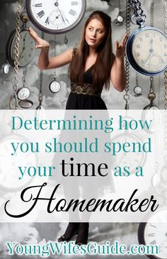 This is been one of the hardest struggles I've had in learning how to manage my home: how (and where) should I spend my time? So here are some tips for helping you determine what you should be spending your time on as a homemaker: http://youngwifesguide.com/determining-how-you-should-spend-your-time-as-a-homemaker/