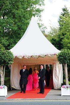 Luxe Wedding; tent trimming