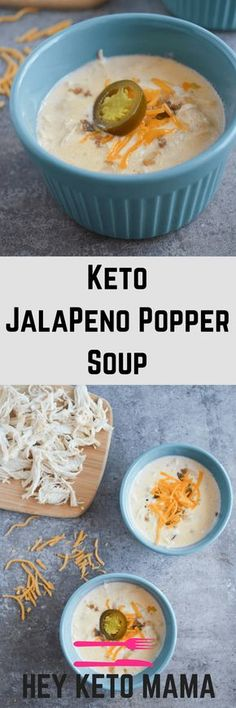 This Keto Jalapeno Popper Soup will soon become your family's favorite low carb comfort food. It's packed with savory flavor and just the right amount of kick. Be sure to make at least a double batch for leftovers! | heyketomama.com via @heyketomama Keto Foods, Keto Meal, Ketogenic Recipes, Ketogenic Diet, Low Carb Recipes, Soup Recipes, Cooking Recipes, Paleo Diet, Bariatric Recipes