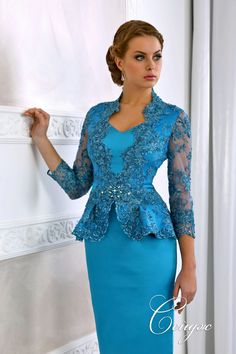 Blue lace dress Now Mother Of Bride Outfits, Mother Of Groom Dresses, Mothers Dresses, African Fashion Dresses, African Dress, Fashion Outfits, Mom Dress, Lace Dress, Elegant Dresses
