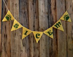 Sic 'Em Burlap Banner for Baylor University