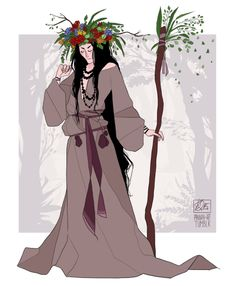 """drzwi-do-szafy: """"pannan-art: """"pannan-art: """"Witchsona 2015 Slavic Witch. Slavic witches were women who were smart, bright and have a lot of skills. Before Christianity they were very important society members. Character Concept, Character Art, Concept Art, Character Design, Wicca, Witch Art, Witch Aesthetic, Beautiful Drawings, Fantasy Characters"""