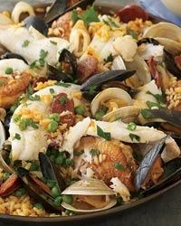 Seafood Paella - Spanish Recipes from Food  Wine