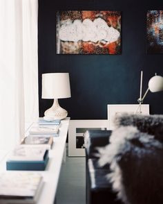 We Are About To Paint An Accent Wall In Our Living Room Black Hopefully It Will Look As Good At This Wall Does Our House Pinterest Black Accent