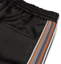 CMMN SWDN - Stripe-Trimmed Satin Drawstring Trousers