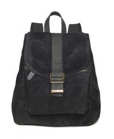 Black Suede And Leather Sonar Backpack if I needed a backpack
