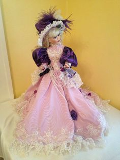 Franklin Mint Heirloom Maryse Nicole porcelain Doll Violets In The Snow  picclick.com