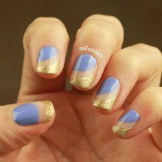 Really loving this #lightlavender & gold combo  #kiko #nailart #easynailart #simplenailart #lagirls #sandblast #sandsoftime