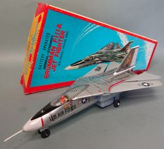 Vintage Battery Operated Grumman F111A Air Force Jet Fighter