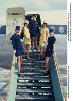 Old Uniform, Lufthansa German Airlines. Look how neat and professional they look. Have you seen stewards now ?