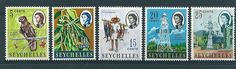 1968 British Indian Ocean Territory (BIOT) Overprints on Seychelles 5 MNH Stamps